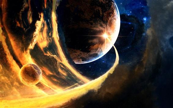 Обои Планеты, космос, пламя