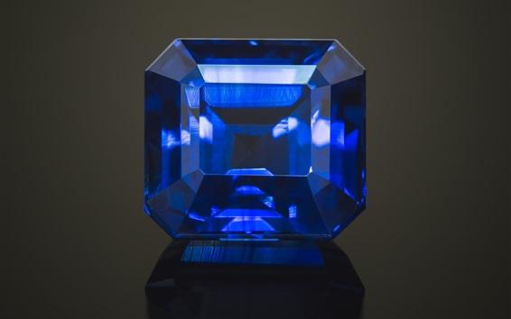 Wallpaper Sapphire, blue stones