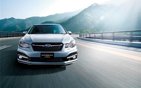 Wallpaper Subaru Impreza Sport Hybrid car front view