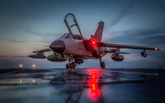 Wallpaper Tornado GR4 aircraft at night