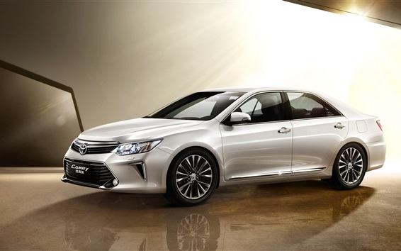 Wallpaper Toyota Camry 10th Anniversary silver car