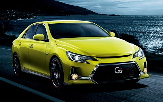 Wallpaper Toyota Mark X 350S GS green car