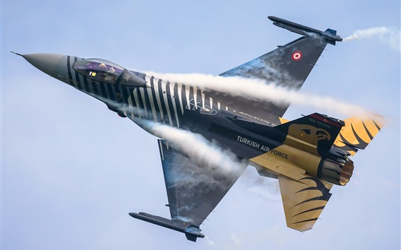 Wallpaper Turkish air force fighter