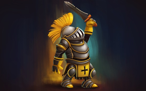 Wallpaper Warrior, armor, sword, art design