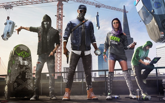 Wallpaper Watch Dogs 2, Xbox games