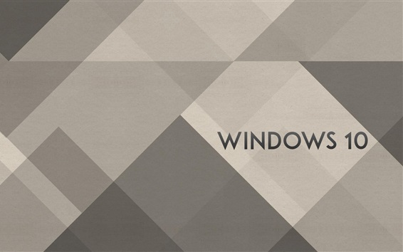 Fond d'écran Windows 10 logo, arrière-plan simple