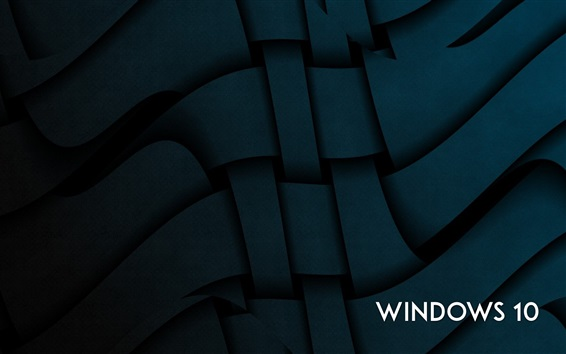 Wallpaper Windows 10 system, abstract curves background