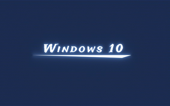 Windows 10 white light, blue background Wallpaper Preview