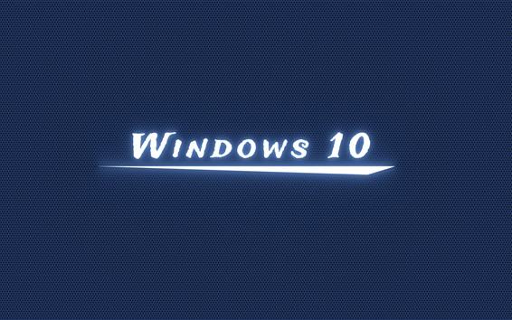 Wallpaper Windows 10 white light, blue background