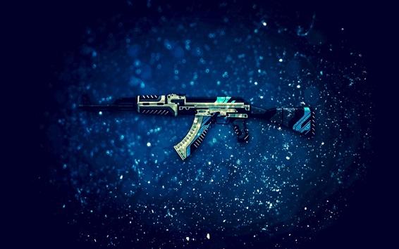 Wallpaper AK-47 assault rifle, CS: GO, PC game