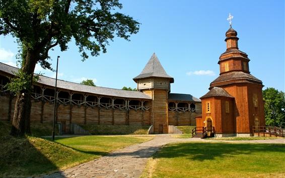Wallpaper Baturyn citadel, Hetman's capital, Church, Ukraine