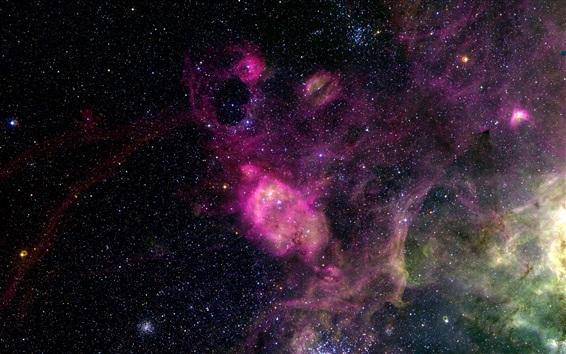 Fond d'écran Bel espace, univers, étoiles, le style pourpre