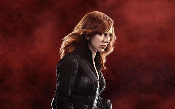 Fondos de pantalla Negro Viuda, Scarlett Johansson en el Capitán América 3
