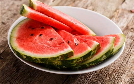 Wallpaper Bowl, watermelon slices