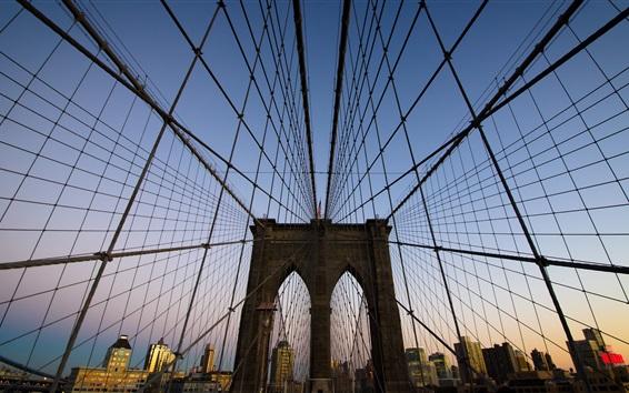 Wallpaper Brooklyn Bridge in New York, USA