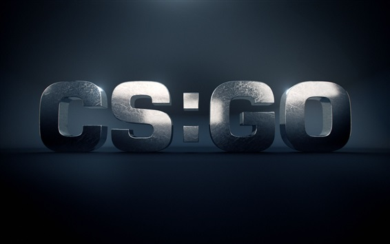 Wallpaper CS: GO, 3D logo
