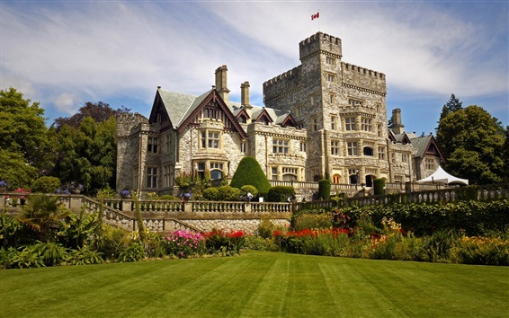 Wallpaper Colwood, British Columbia, Canada, Hatley Castle