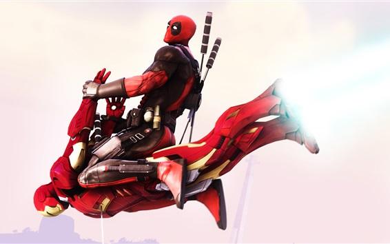 Fondos de pantalla Deadpool y Iron Man
