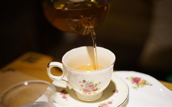 Wallpaper Drink tea, cup