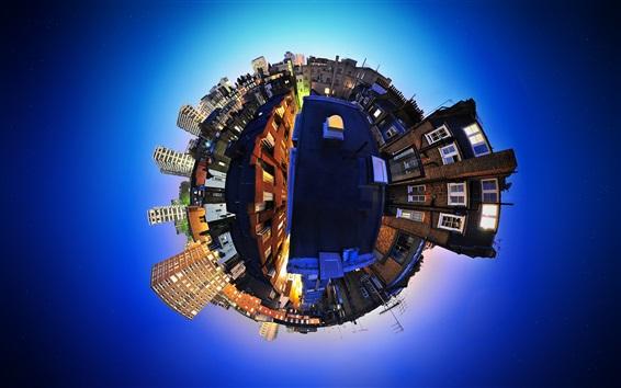 Hintergrundbilder Erde Dorf, kreatives Design