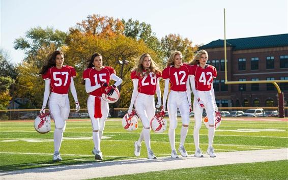 Wallpaper Fashion models, sportswear, five girls