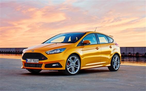 Fond d'écran Ford Focus voiture d'orange