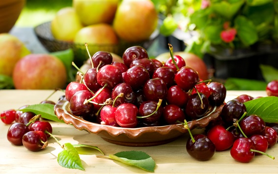Wallpaper Fresh and sweet cherries