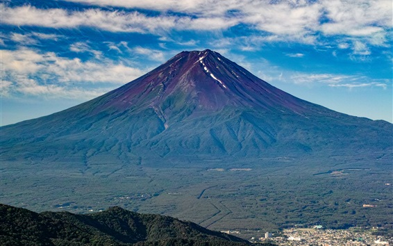 Wallpaper Fuji mountain, volcano, Japan nature landscape