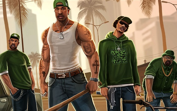 Wallpaper Grand Theft Auto, GTA game