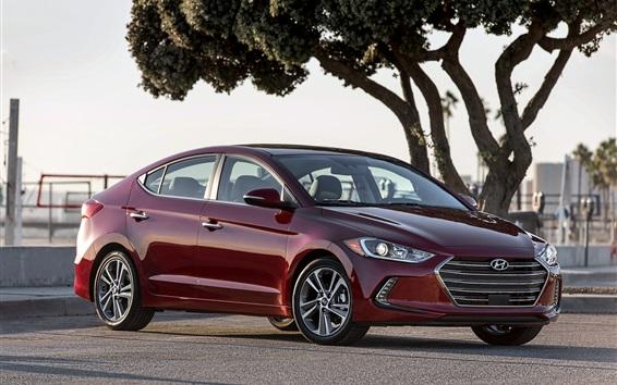 Fondos de pantalla coche rojo Hyundai Elantra