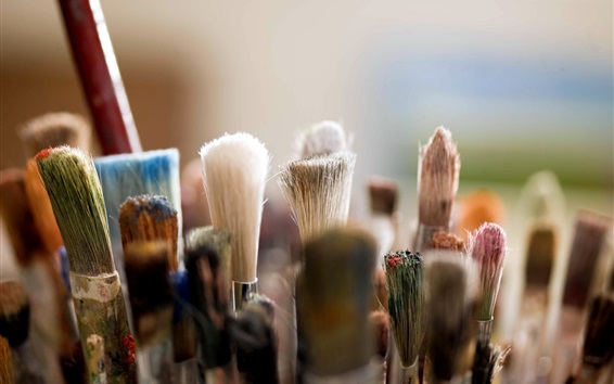 Wallpaper Many brushes, for makeup