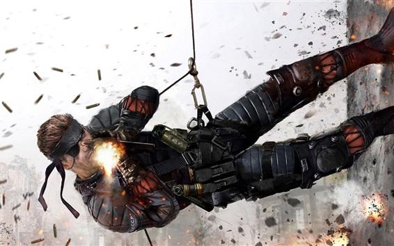 Fondos de pantalla Metal Gear Solid, lucha soldado