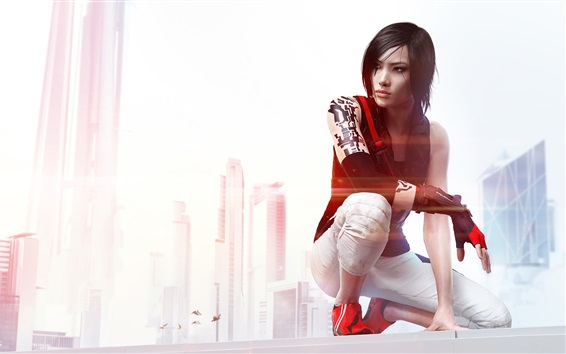 Wallpaper Mirror's Edge, beautiful girl