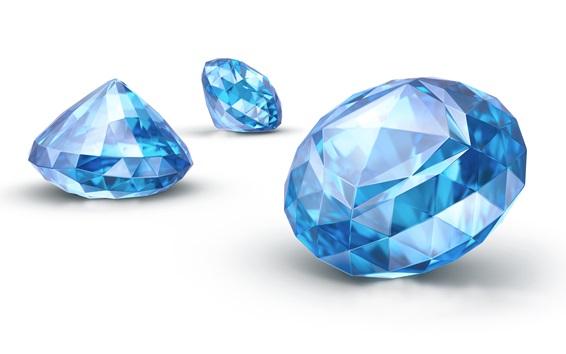 Wallpaper Sapphire, blue diamond
