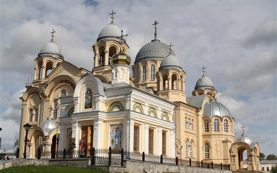 Wallpaper St. Nicholas Monastery, Church, Verkhoturye, Russia