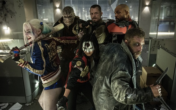 Wallpaper Suicide Squad 2016, movie screenshot
