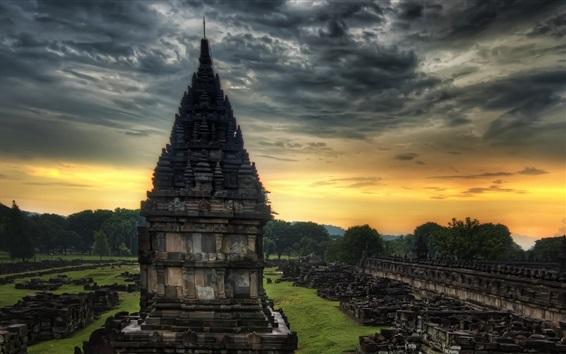 Обои Путешествие в Индию, храм, камни, сумерки