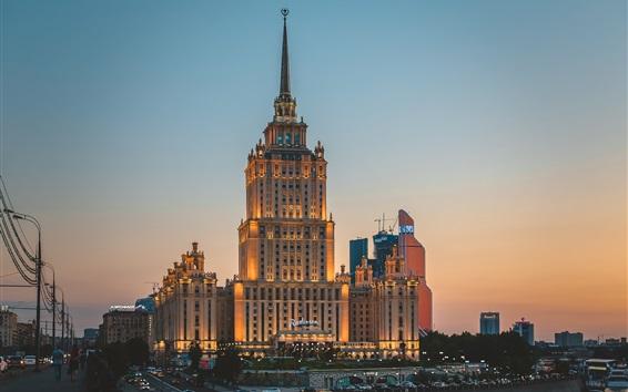 Fondos de pantalla Ucrania, ciudad de la noche, el hotel, las luces
