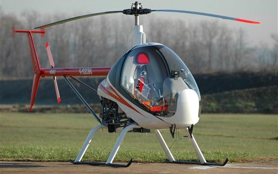 Wallpaper Ultralight Helicopter