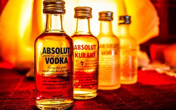 Papéis de Parede Absolut Vodka, licor, garrafas