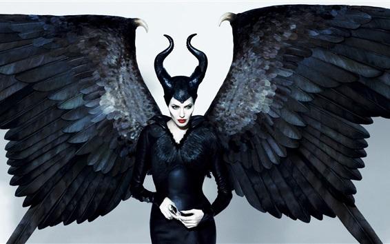 Wallpaper Angelina Jolie, Maleficent, wings