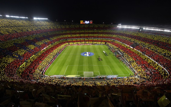 Wallpaper Barcelona Football Club, football stadium