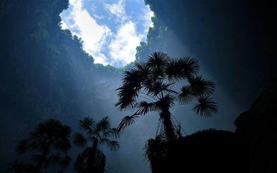 Обои Большая природа дыра, деревья, облака, небо