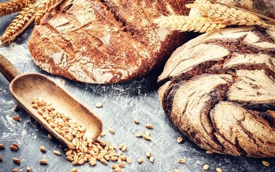 Fond d'écran Pain, blé, céréales, photographie alimentaire