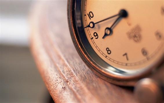 Wallpaper Clock close-up, bokeh