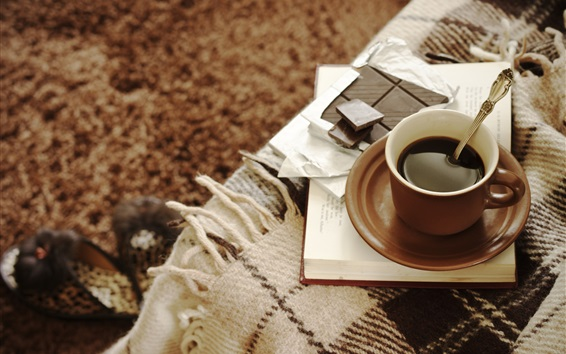 Обои Кофе и шоколад, чашка