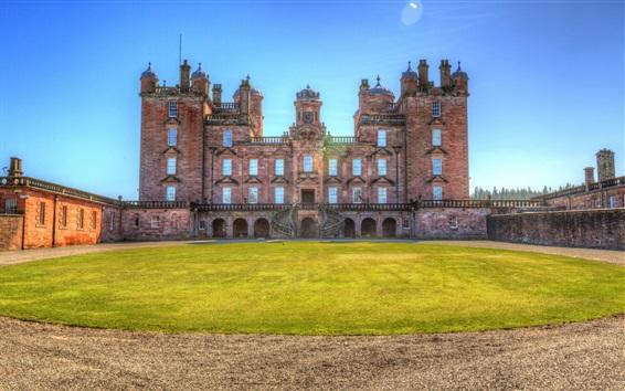 Wallpaper Drumlanrig Castle, lawn, Scotland