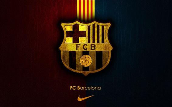 Fond d'écran FCB, Club de Football Barcelone, Nike