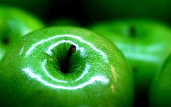 Wallpaper Green apple macro photography