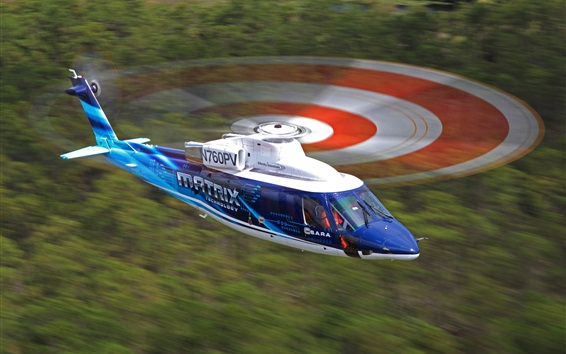 Обои Перелет на вертолете